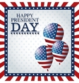 happy president day balloons frame flag vector image