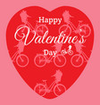 happy valentines day greeting card design template vector image vector image