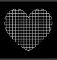 heart with square white color path icon vector image vector image