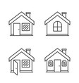 house line icons vector image vector image
