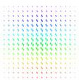 human steps icon halftone spectrum grid vector image vector image