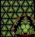 irish pattern vector image vector image
