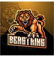 lion esport mascot logo design vector image vector image
