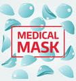 medical mask advertising banner medical mask vector image