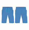 mens blue sport shorts vector image vector image