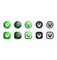 microsoft xbox video game console modern 3d and vector image