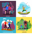people rest 2x2 concept vector image