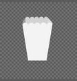 per popcorn box mockup vector image vector image