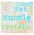 Protein is NOT the Best Food to Build Muscle text vector image vector image