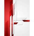 Red tech corporate background vector image vector image