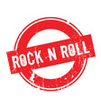 rock n roll rubber stamp vector image vector image