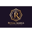 Royal logo template hotel vector image