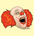 scary clown vector image