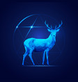 sci-fi deer vector image vector image