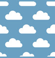 seamless background clouds vector image