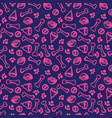 seamless cute pattern with dog food cell bones vector image