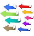 Set of colored arrows vector image vector image