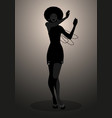silhouette dancer and soul singer in style vector image vector image