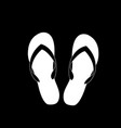 slippers icon isolated on black background vector image vector image