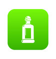 square bottle icon green vector image vector image