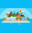 summer holiday on sea banner bright travel summer vector image