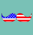 symbol of fathers day with usa flag textured vector image vector image