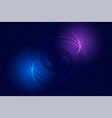 technology particles spiral background with vector image