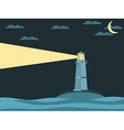 The lighthouse in the sea vector image vector image