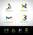 Triangle Letter Logo Design vector image vector image