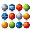 twelve christmas ball vector image vector image