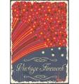 Vintage fireworks poster design Retro flyer vector image vector image