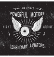 Vintage label with turbine vector image vector image
