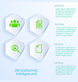white paper realistic business background vector image vector image