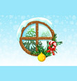 winter christmas window vector image vector image
