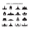 asia landmarks architecture building silhouette vector image