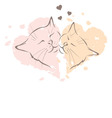 Valentine card - love cats vector image