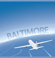 baltimore flight destination vector image
