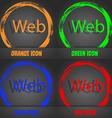 Web sign icon World wide web symbol Fashionable vector image