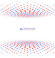 abstract contrast red blue halftone cover design vector image vector image