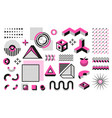 abstract geometric shapes memphis modern minimal vector image