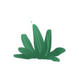 abstract green tree plant cartoon icon vector image vector image