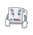 afraid dice character cartoon style vector image vector image