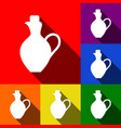 amphora sign set of icons vector image vector image