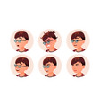 avatar icon woman round portrait cute vector image vector image