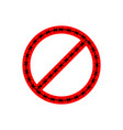 ban sign of barbed wire prohibited fences vector image
