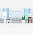 bathroom interior design with furniture vector image