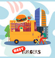 best burgers concept vector image vector image
