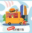 best burgers concept vector image
