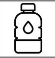 beverage bottle drink water icon vector image vector image