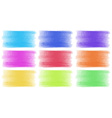 Brush strokes in different colors vector image